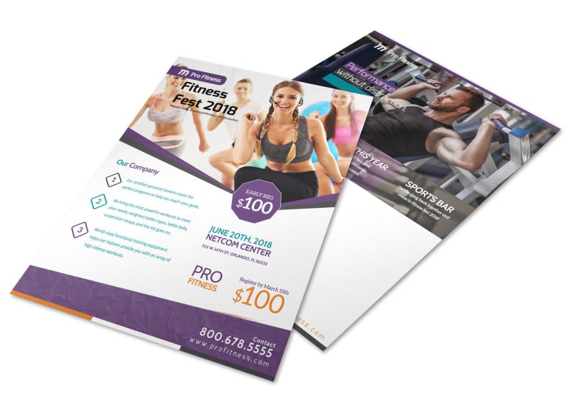Fitness Fest Event Flyer Template | MyCreativeShop