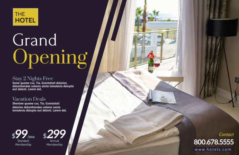 Hotel Grand Opening Postcard Template Preview 2