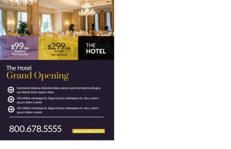 Hotel Grand Opening Postcard Template Preview 3