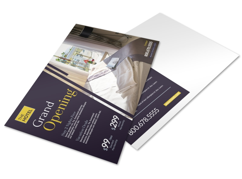 Hotel Grand Opening Postcard Template Preview 4