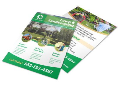 Landscaping Lawn Care Flyer Template preview