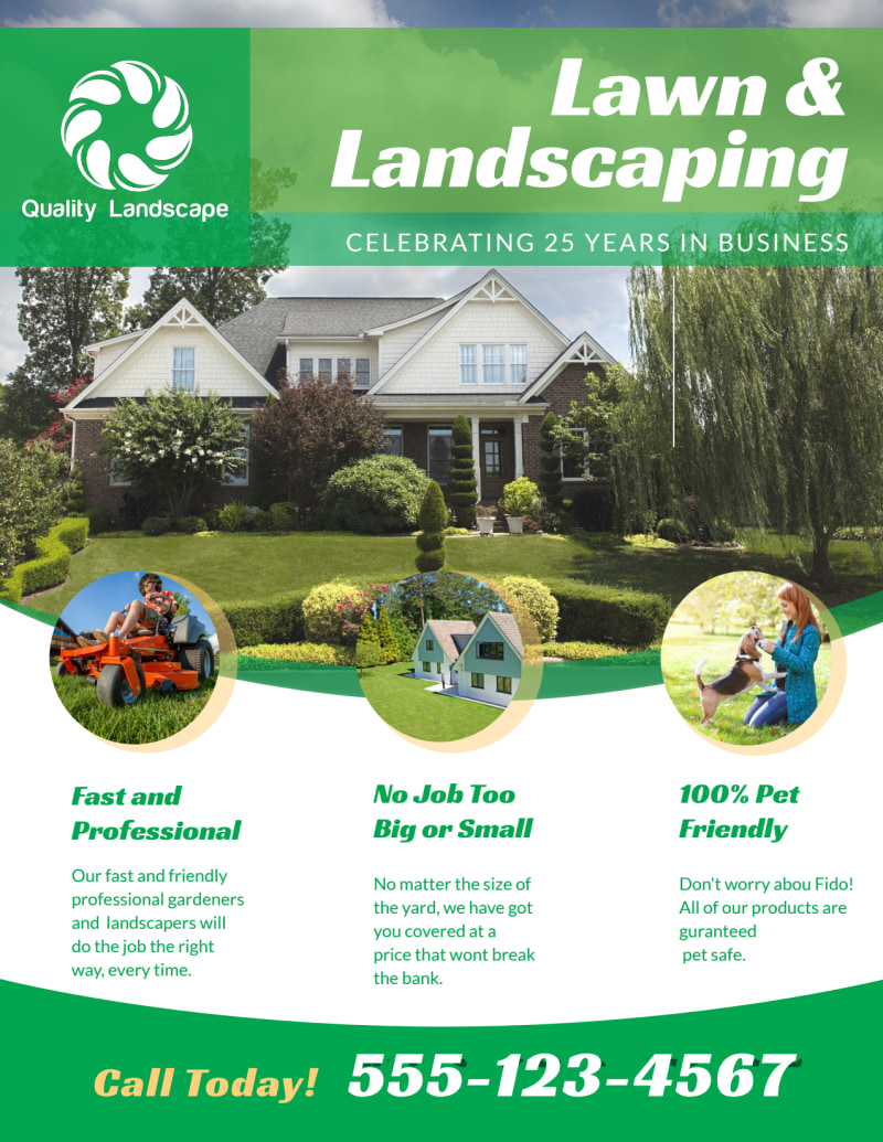 Landscaping Lawn Care Flyer Template Preview 2