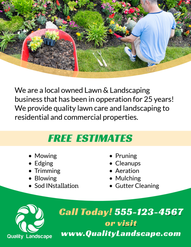 Landscaping Lawn Care Flyer Template Preview 3