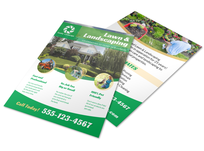 Landscaping Lawn Care Flyer Template Preview 1
