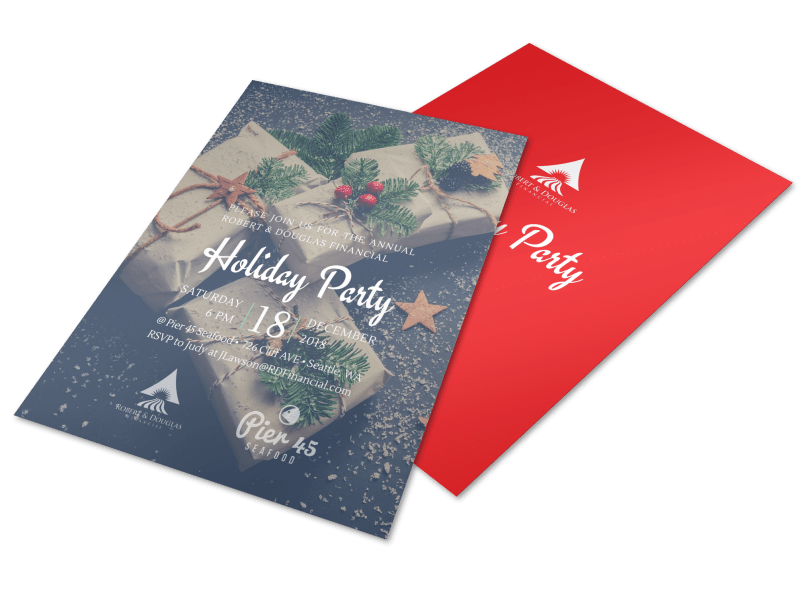 Christmas Holiday Party Flyer Template Preview 1