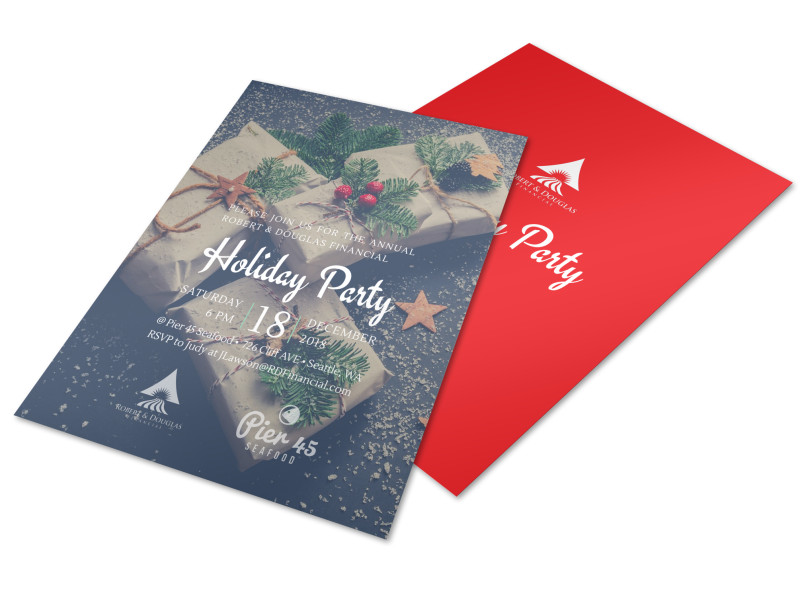 Christmas Holiday Party Flyer Template MyCreativeShop
