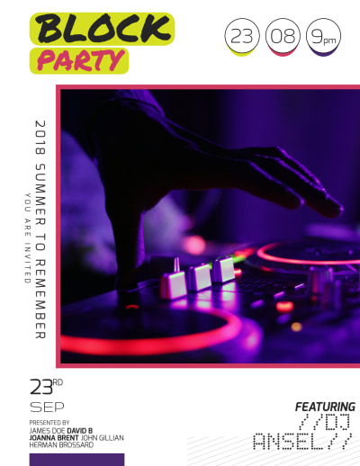 Block Party Flyer Template Preview 1