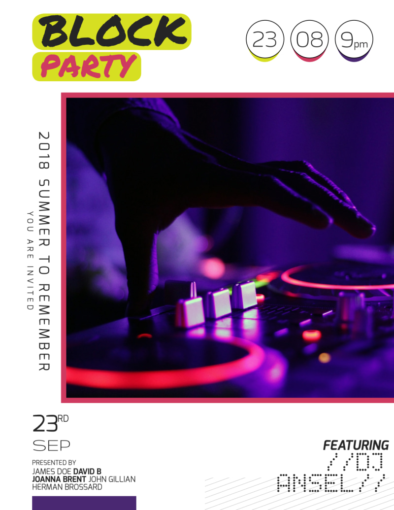 Block Party Flyer Template Preview 2