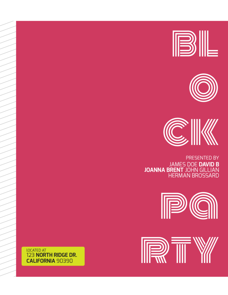 Block Party Flyer Template Preview 3