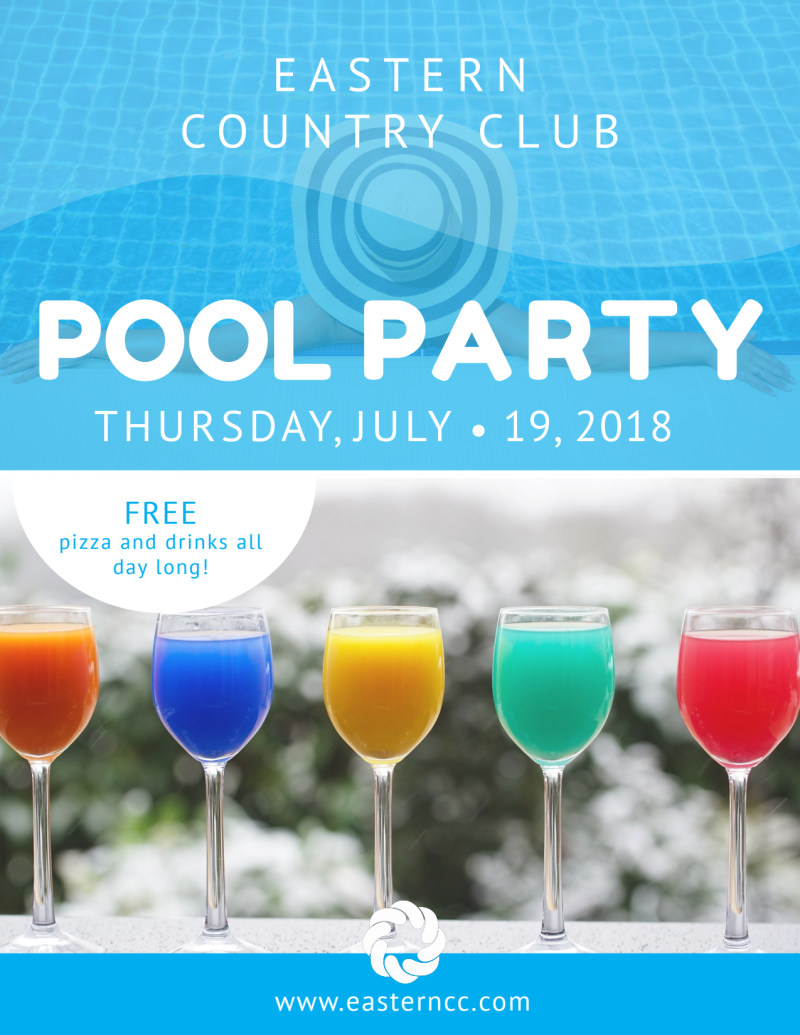 Country Club Pool Party Flyer Template Preview 2