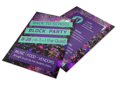 Back To School Party Flyer Template preview
