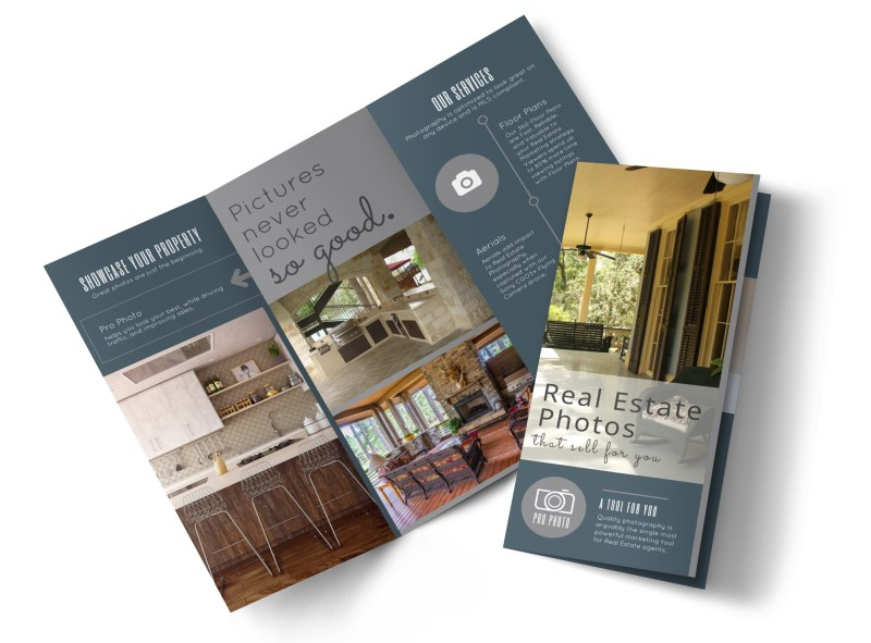 Real Estate Photography Tri-Fold Brochure Template Preview 4