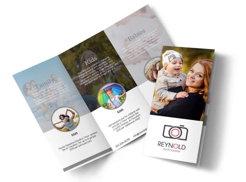 Reynolds Family Photography Tri-Fold Brochure Template Preview 1