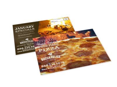 Pizza Restaurant EDDM Postcard Template preview