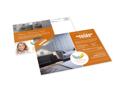 Weekend Tour Realtors EDDM Postcard Template preview