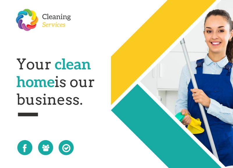 Clean Home EDDM Postcard Template Preview 2