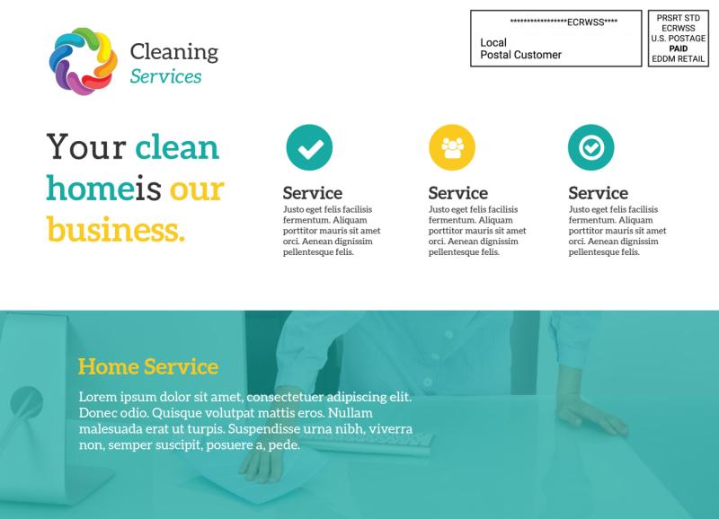 Clean Home EDDM Postcard Template Preview 3
