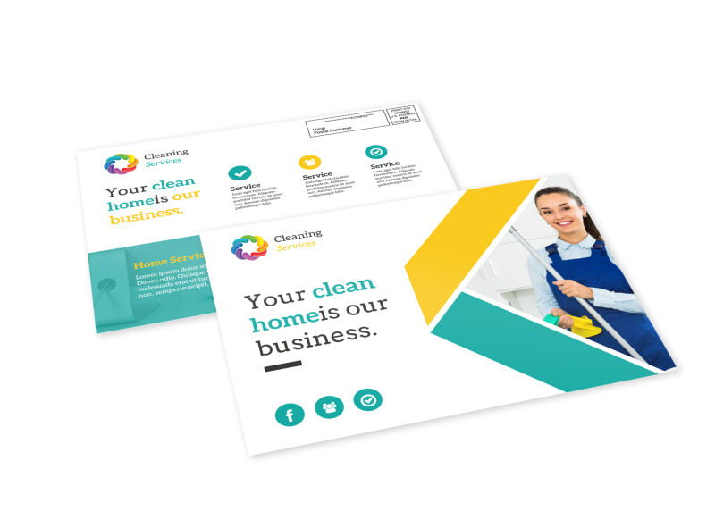 Clean Home EDDM Postcard Template