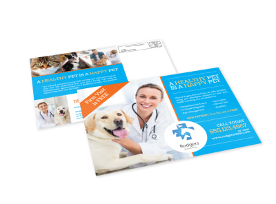 Veterinary Service EDDM Postcard Template preview
