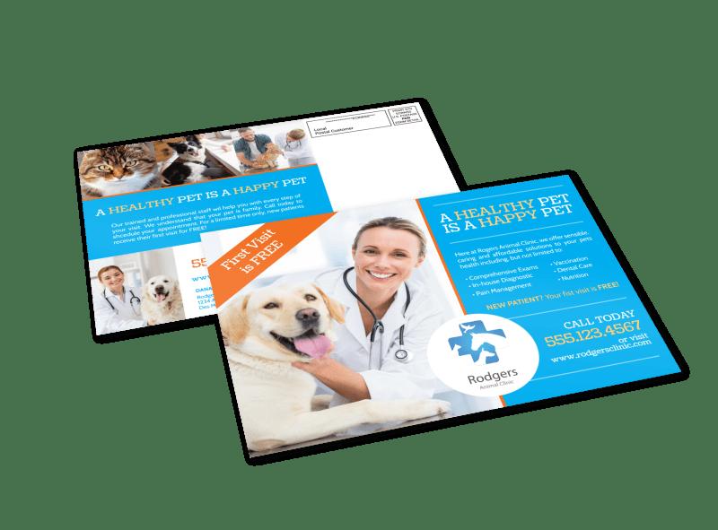 Veterinary Service EDDM Postcard Template Preview 1