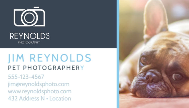 Pet Photography Business Card Template Preview 2