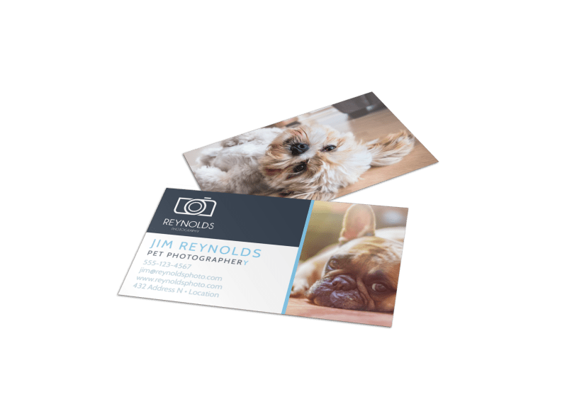 Pet Photography Business Card Template Preview 1