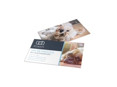 Pet Photography Business Card Template preview