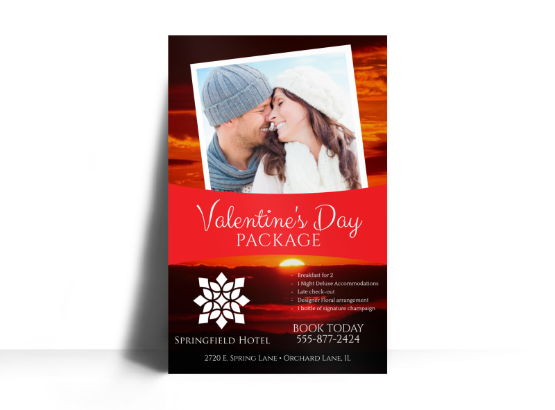 Hotel Valentine's Day Poster Template