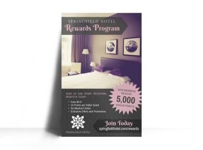 Hotel Rewards Program Poster Template preview
