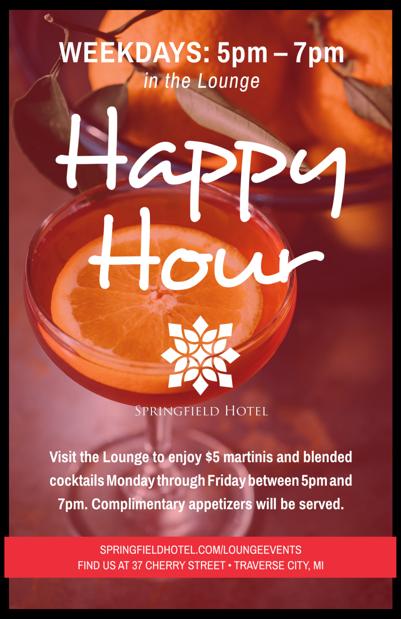 Hotel Happy Hour Poster Template Preview 2