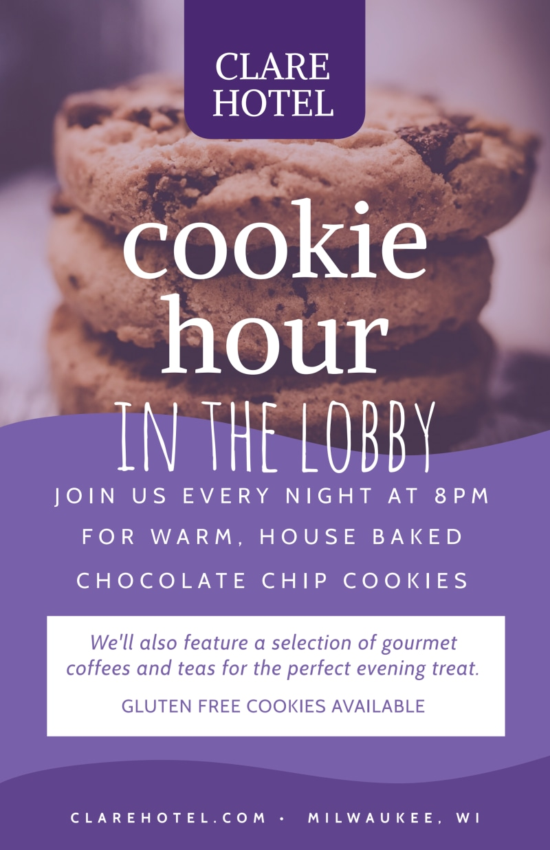 Cookie Hour Hotel Poster Template Preview 2