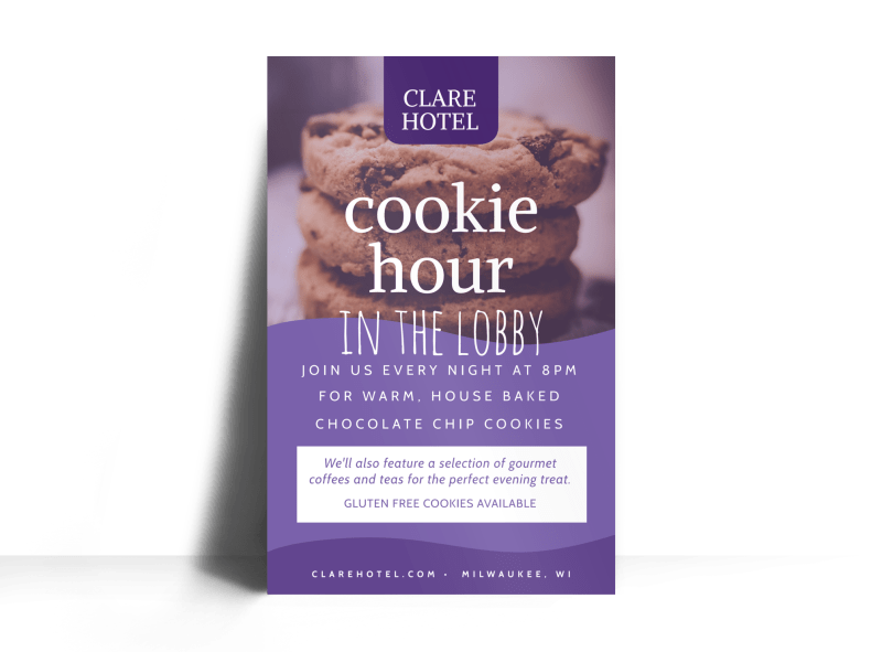 Cookie Hour Hotel Poster Template Preview 1