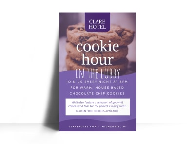 Cookie Hour Hotel Poster Template preview