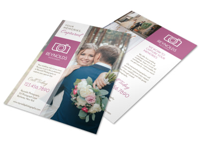 Reynolds Wedding Photography Flyer Template preview