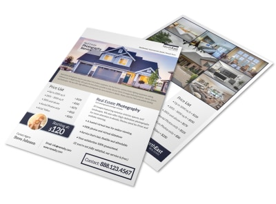 Real Estate Photographer Flyer Template preview