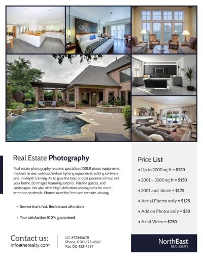 Real Estate Photographer Flyer Template Preview 2