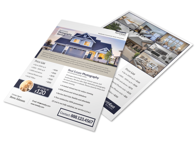 Real Estate Photographer Flyer Template Preview 1
