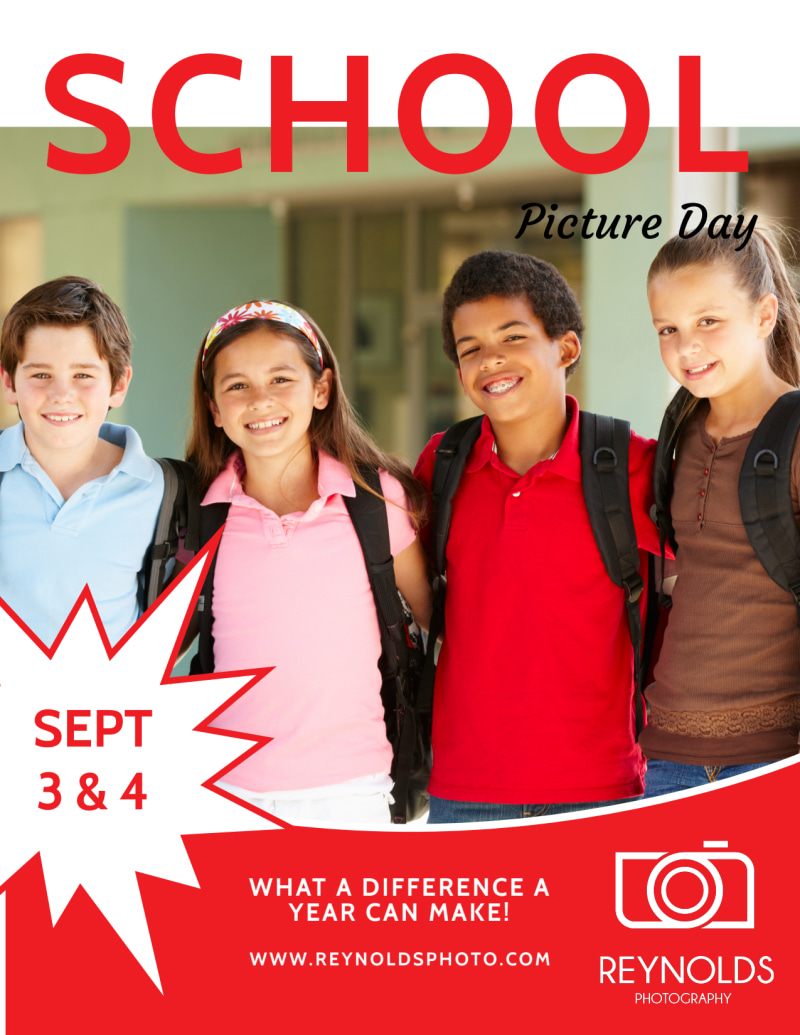 Back To School Picture Day Flyer Template Preview 2