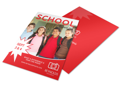 Back To School Picture Day Flyer Template preview