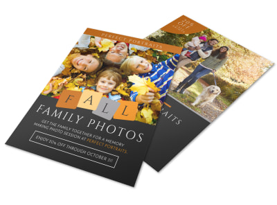 Fall Family Photos Flyer Template preview