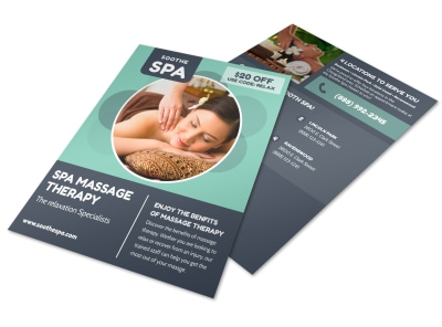 Spa Massage Therapy Flyer Template