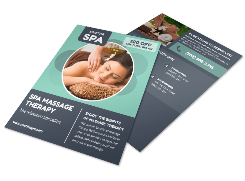Spa Massage Therapy Flyer Template Preview 1