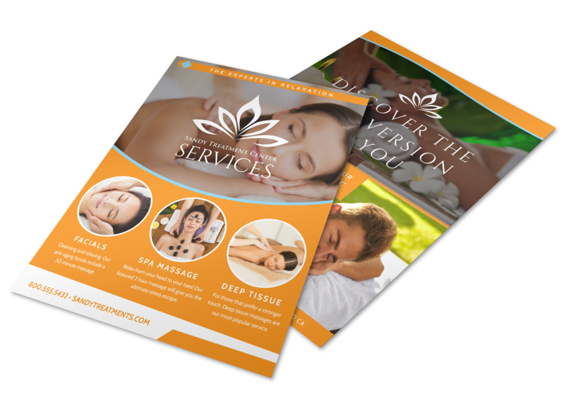 Design Custom Massage Flyers Online Mycreativeshop