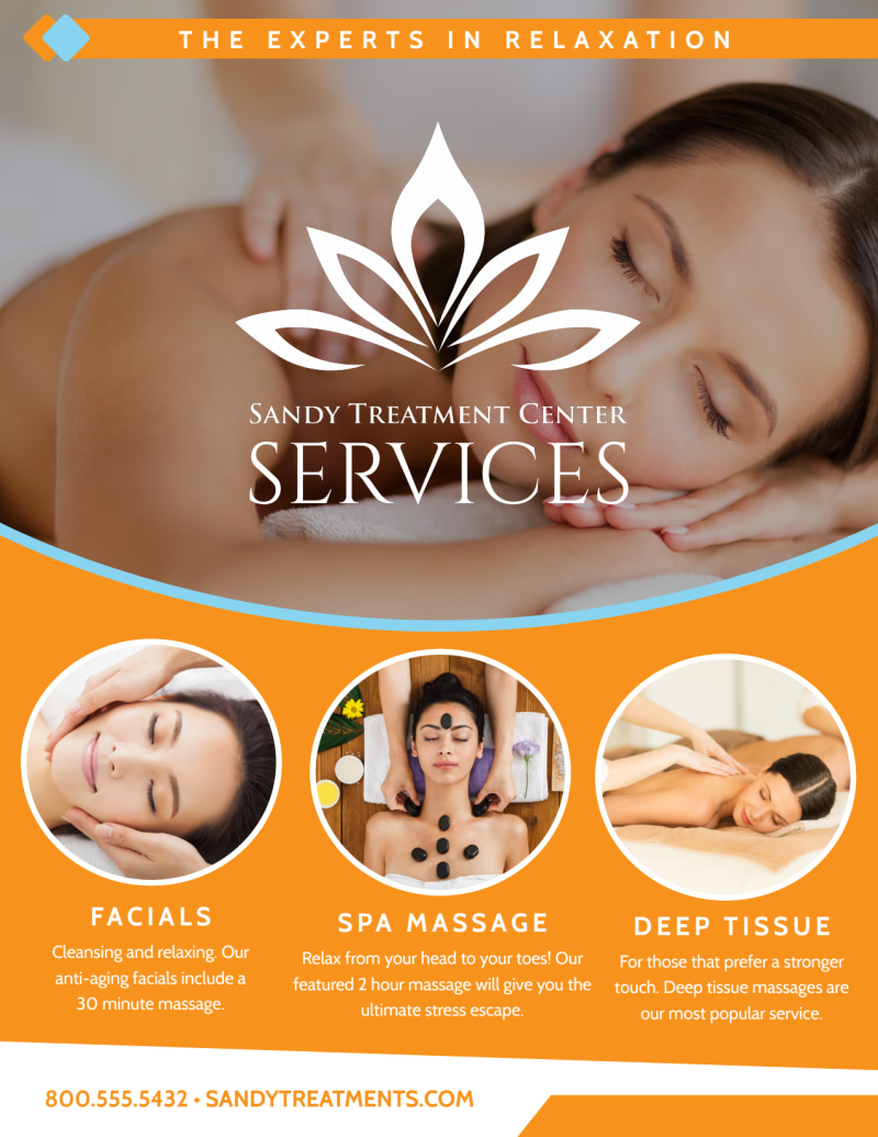 Massage Services Offered Flyer Template Preview 2