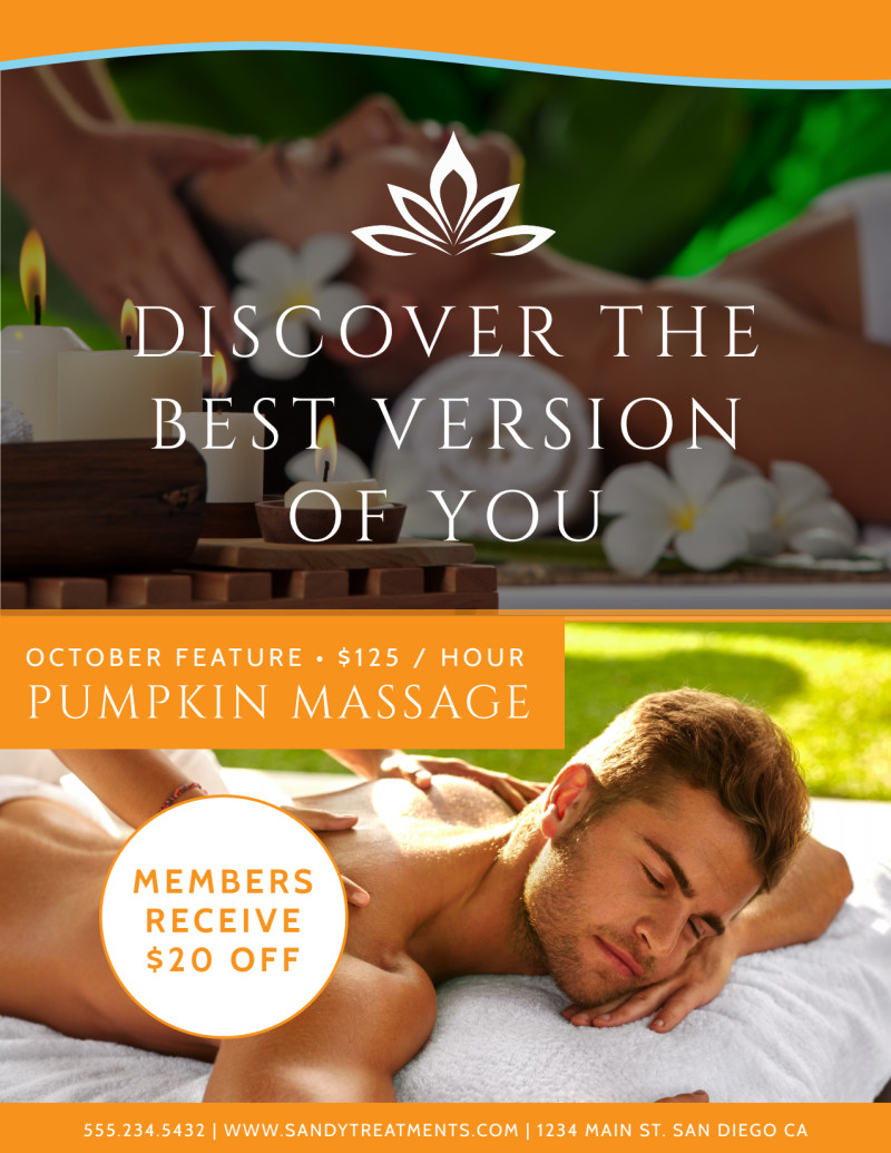 Massage Services Offered Flyer Template Preview 3