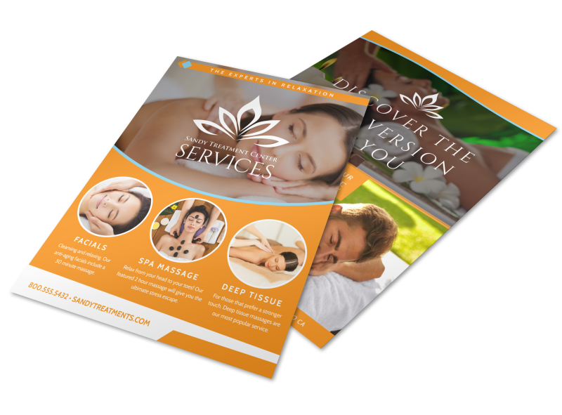 Massage Services Offered Flyer Template Preview 1