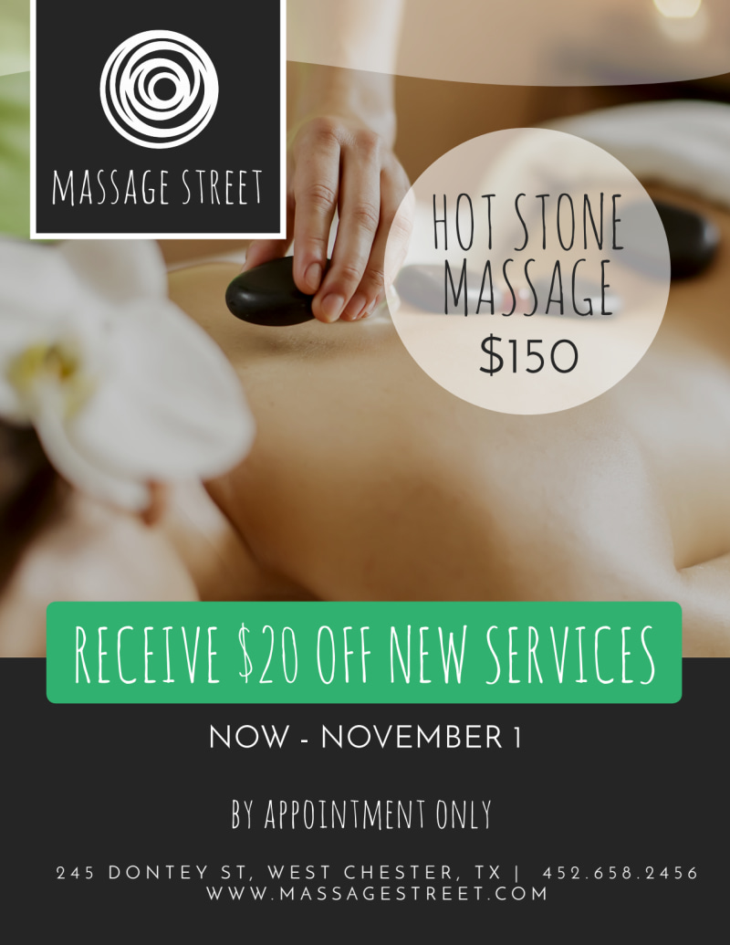 Hot Stone Massage Flyer Template Preview 2