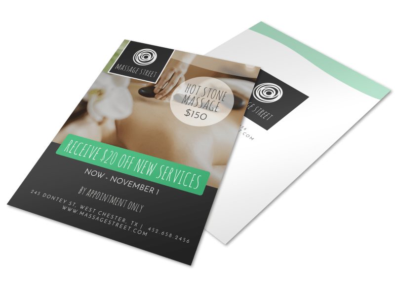 Hot Stone Massage Flyer Template Preview 1