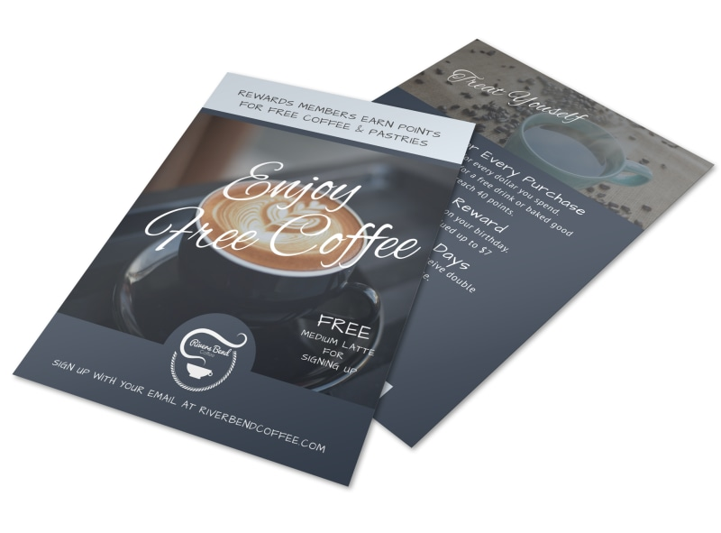 Free Coffee Rewards Program Flyer Template Preview 4