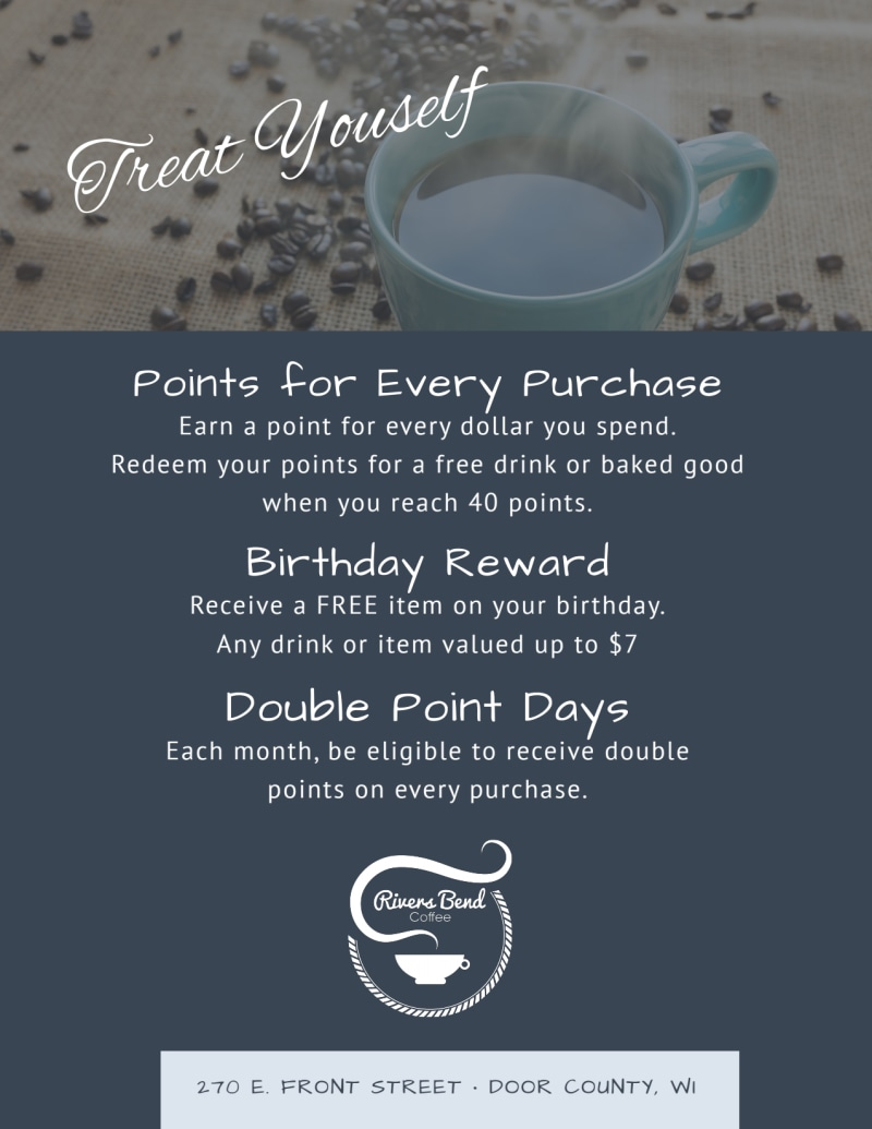 Free Coffee Rewards Program Flyer Template Preview 3